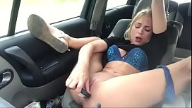 Dutch slut masturbating in car — Find me on www.girls4cock.com/siswet19 this is my personal chatroom!!