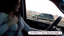 christineash.net | Public Masturbation in a Car