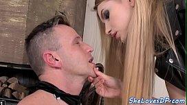 Dp loving beauty blindfolds her lovers