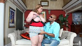 Fat White Wife Lives out Her Fantasy of Fucking A Black Dick sex image