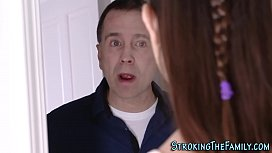 Teenage stepsis cum mouth