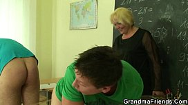 Mature and her horny students