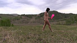Nudity outdoors. Big ass and hairy pussy love a complete merger with nature and exhibitionism. PAWG.
