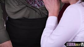 Busty redhead milf fingered by lesbian