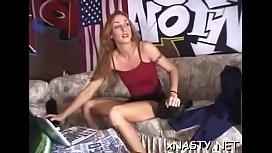 Raunchy sweetie Christina gets tang pleasured