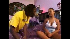 Cute Ebony Teen vs Huge Cock