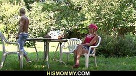Busty lesbian mom seduces son'_s girlfriend