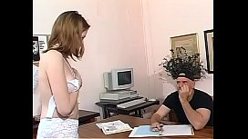 Young secretary banged in the office desk by worker xxx video