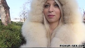 Big boobs blonde Eurobabe Chloe Lacourt pounded for cash