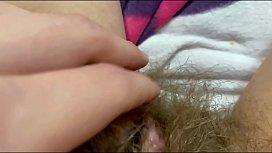 New hairy bush big clit close up video compilation pov