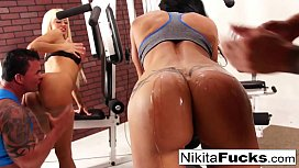 Nikita joins a workout orgy with some hard bodies
