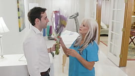 65yo Psychiotherapist Works On A Young Guy - Sally D