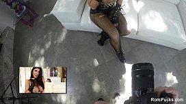 Romi Rain On The Set