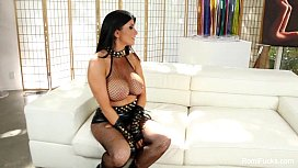 Romi Rain On The Set