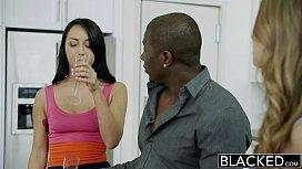 BLACKED Two Gi iends Jillian Janson and Sabrina Banks Share a Huge Black Cock