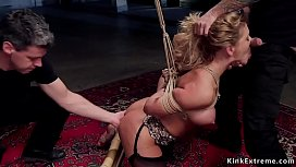 Busty bondage pornstar rough banged