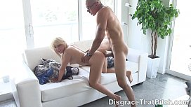 Disgrace That Bitch - Slut Vallerie White ready for big dick