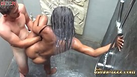 Sexy Black Girl In The Shower