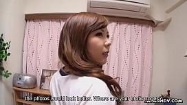 Japanese plumper, Kanon Hisaki got spit- roasted at home, uncensored