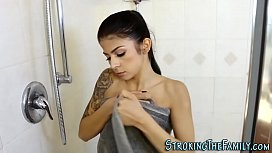 Showering stepteen banged