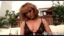 Sexy mom is fingered and fucked