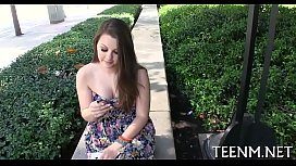 Money for teen cali hayes in exchange for oralservice stimulation