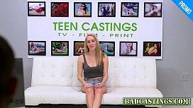 Blonde gets screwed bad at casting
