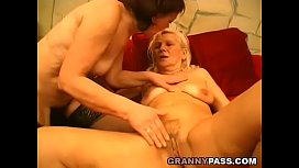 Lesbian Grandmas Kissing And Licking