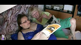 Granny reads playboy and have some sex