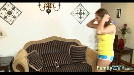 Husband and wife fuck the babysitter 494