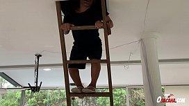 Precisou subir na escada para... * Lorena Vasconcellos * Natalia Prado