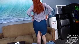 Smoking Teacher Gets Creampied by Student pov redhead milf Lady Fyre