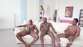 Black Buster, Mike Chapman & CO take care of Lexy Star for hard anal fucking and DP GIO204 xmovie.com