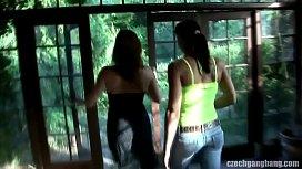 Porn brunette tits lesbian