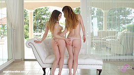 Lesbian scene with Misha Cross and Samantha Bentley by Sapphic Erotica
