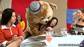 Big Dick Male Strippers and a Fluffy Dancing Bear Entertaining Women (db992 xxx pic