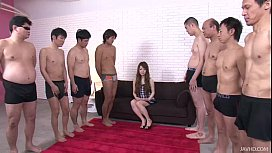 Big thick cocks attack Ria pretty little mouth leaving her soaking wet