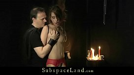 Red Lingerie Slave Teen gets punished and spanking on her perfect ass