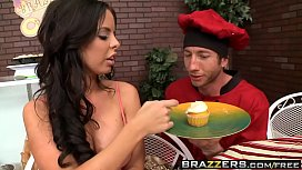 Brazzers - Baby Got Boobs -  Icing on my Cock scene starring Brandy Aniston and Jordan Ash