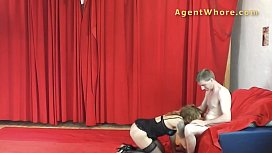 MILF agent whore gives BJ to you er with long dick