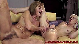 Mature fingering babe after oral