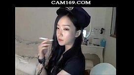 Korean girl with her polic custom on webcam more at cam169.com