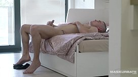 Maskurbate Solo Euro Straight Male Masturbates While Being Watched