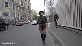Jeny Smith pantyhose fire walking