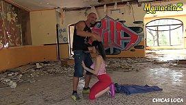 MAMACITAZ - Hot Brunette Takes Cock Through An Abandoned House (Nerea Falco &amp_ Moisex)