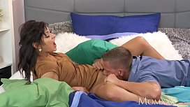MOM Filthy sex hungry mom rides a thick dick for a creampie