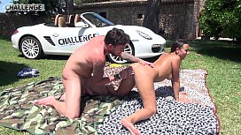 Mallorca special threesome with spanish UK guys by the pool