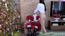 Face sitting Ariana Marie penetrated by forbidden Santa