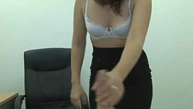 Sexy strick bossbabe spanking my cock