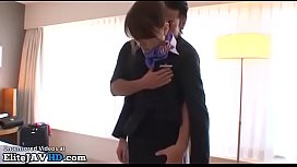 Jav flight assistant fucked in pantyhose and uniform